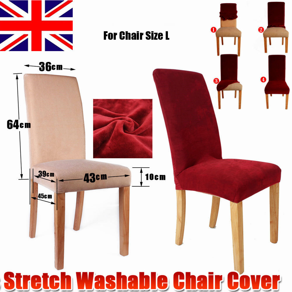 Stretch 1 4 6 8 pcs dining super fit chair covers for 4 dining room chair covers