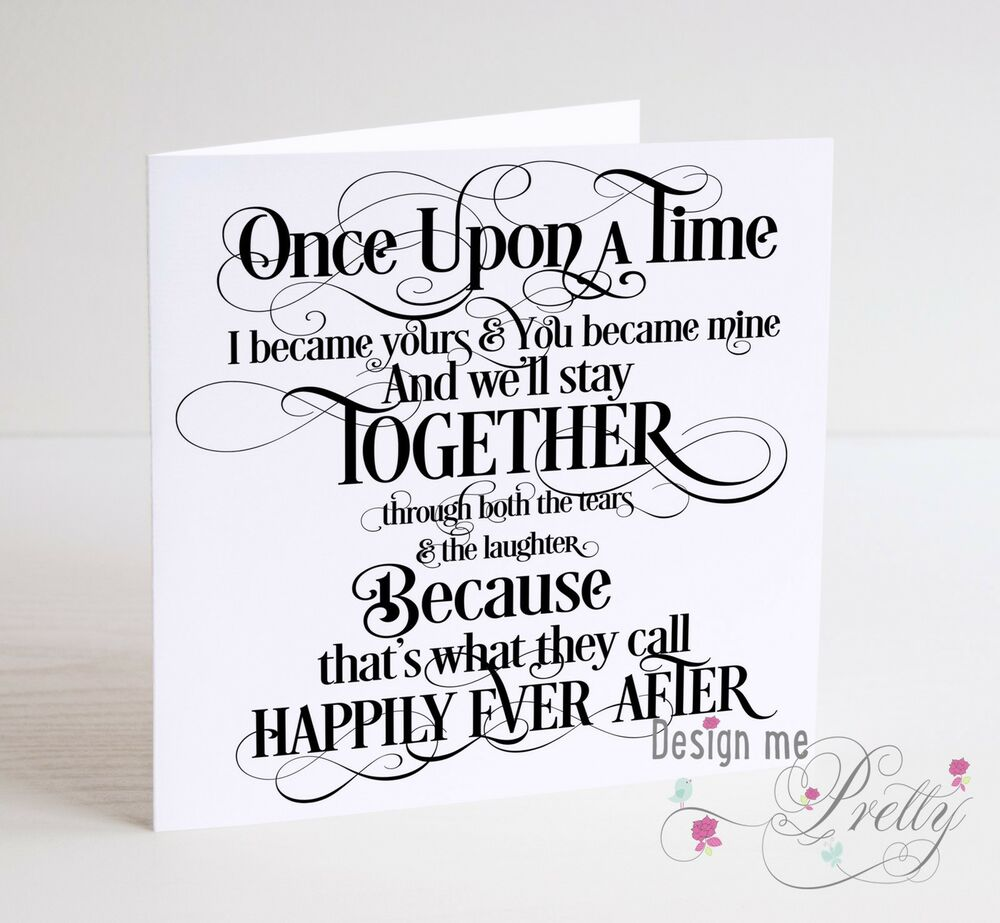 Once Upon A Time Fairytale Anniversary Card Husband Wife