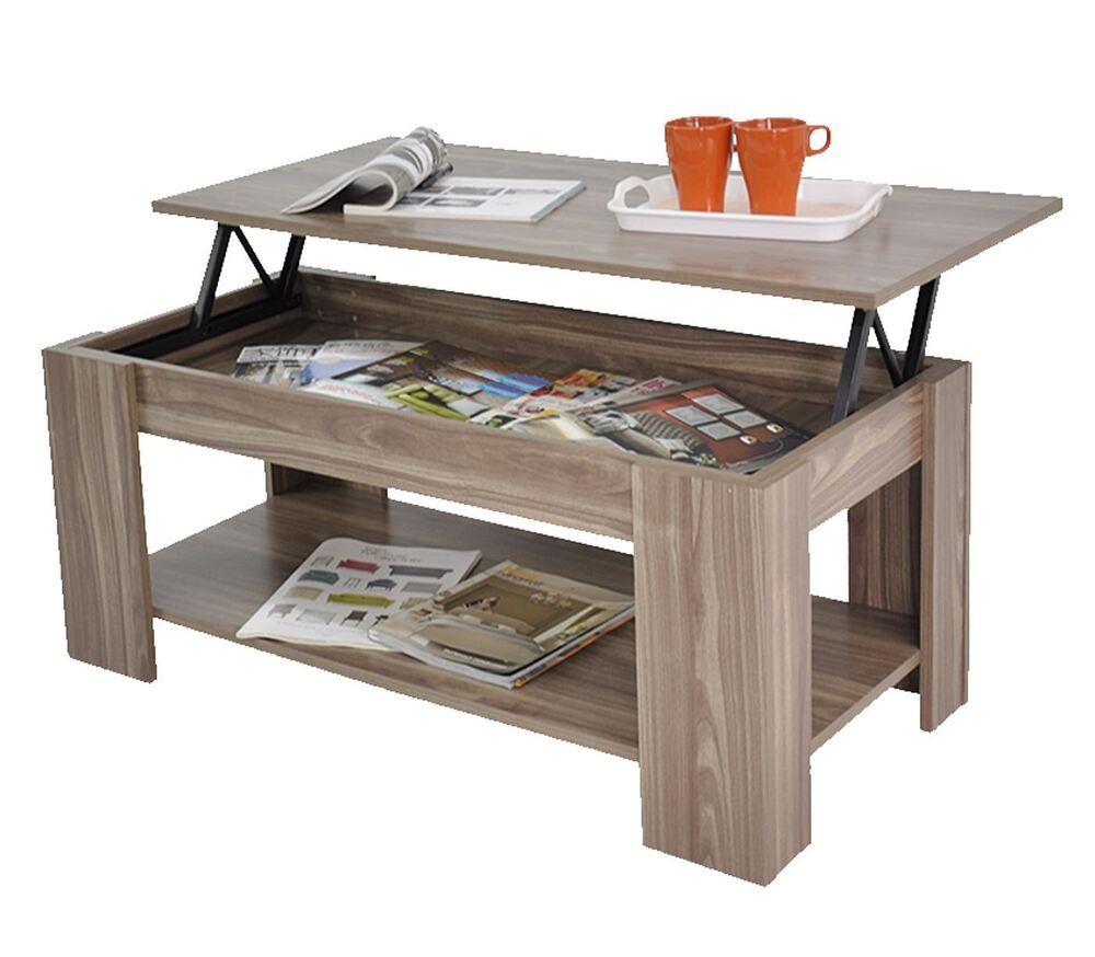 Black Coffee Table With Storage Uk: Stephanie Storage Large Solid Lift Up Coffee Table Walnut