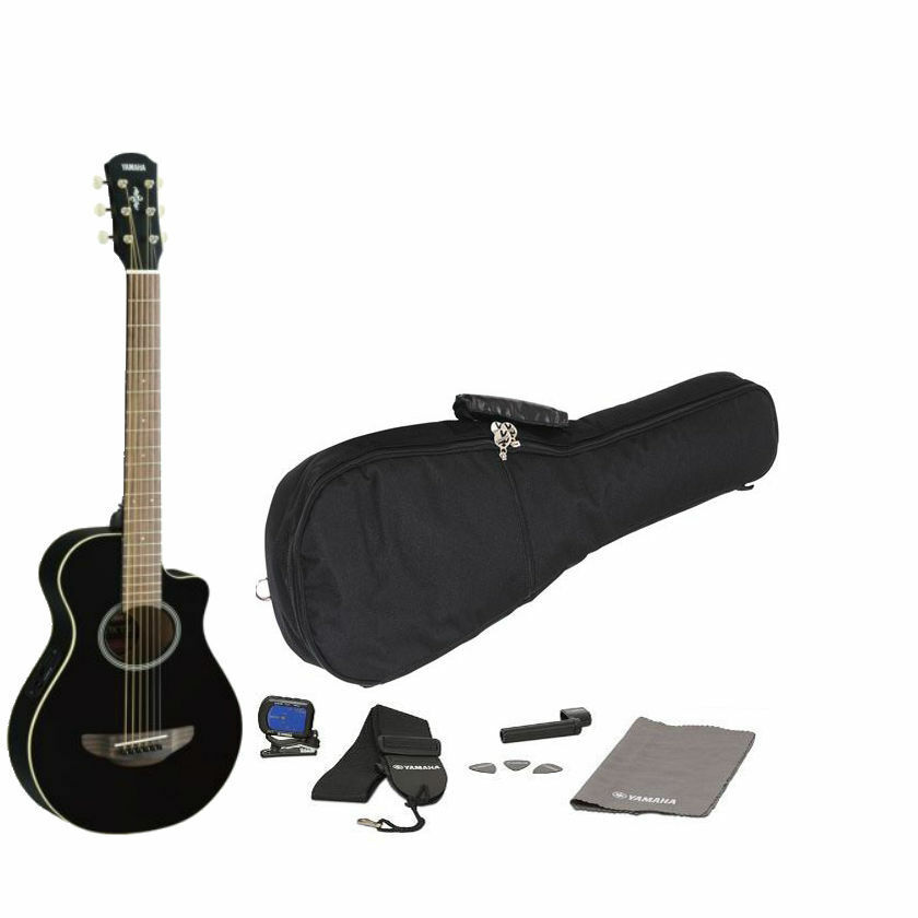 yamaha apxt2 acoustic electric guitar black free gig bag and accessories new ebay. Black Bedroom Furniture Sets. Home Design Ideas