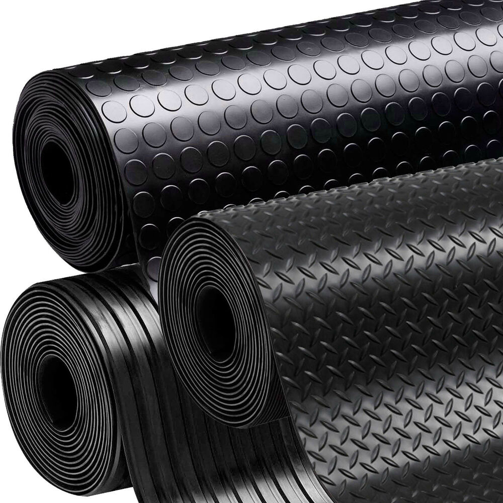 Rubber Flooring Garage Sheeting Matting Rolls 1m 1 2m And 5m Wide X 3mm Thick