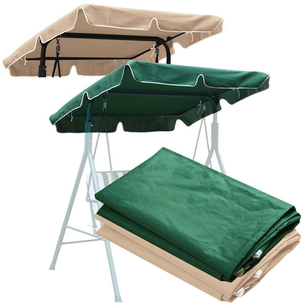 porch swing top cover canopy replacement patio outdoor 66 x45 77 x43 77 x52 39 39 ebay. Black Bedroom Furniture Sets. Home Design Ideas