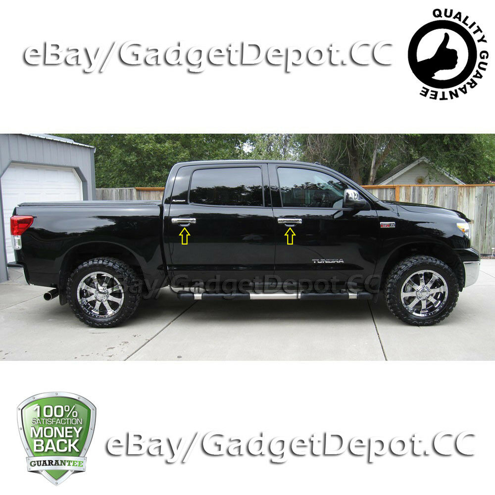 Details About For 2007 2016 2017 Toyota Tundra Crew Cab 08 15 Sequoia Door Handle Chrome Cover