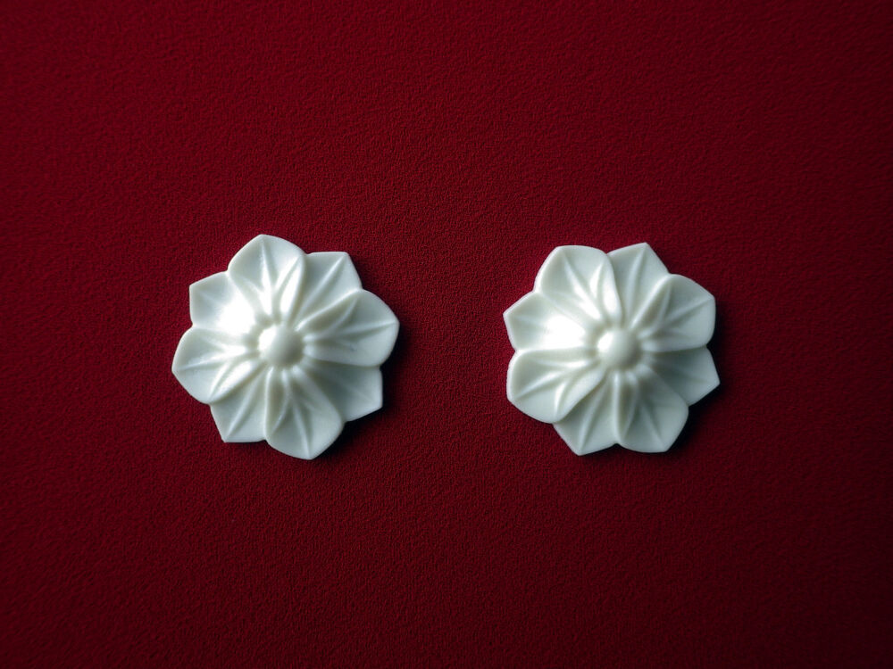 2x decorative flower resin applique furniture door moulding onlay ebay. Black Bedroom Furniture Sets. Home Design Ideas