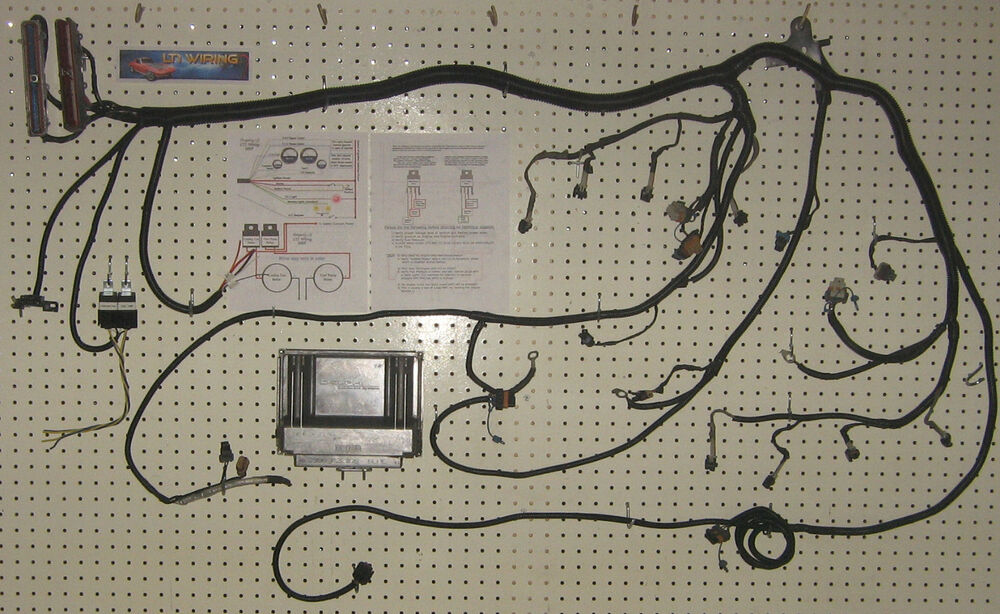 ls1  5 3l    6 0l    4 8l engine wiring harness and pcm