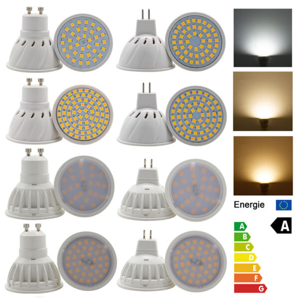 Dimmable GU10 MR16 LED Spot lights 3W 4W 5W 6W 7W 10W 15W 2835SMD Lights Bulbs