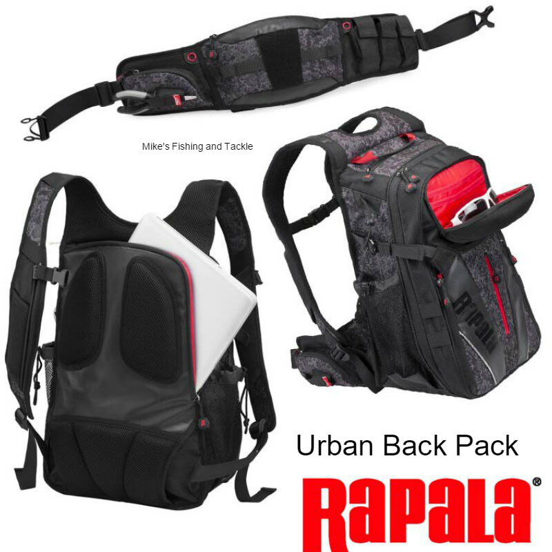 Rapala Urban Backpack Back Pack Fishing Tackle Bag | eBay
