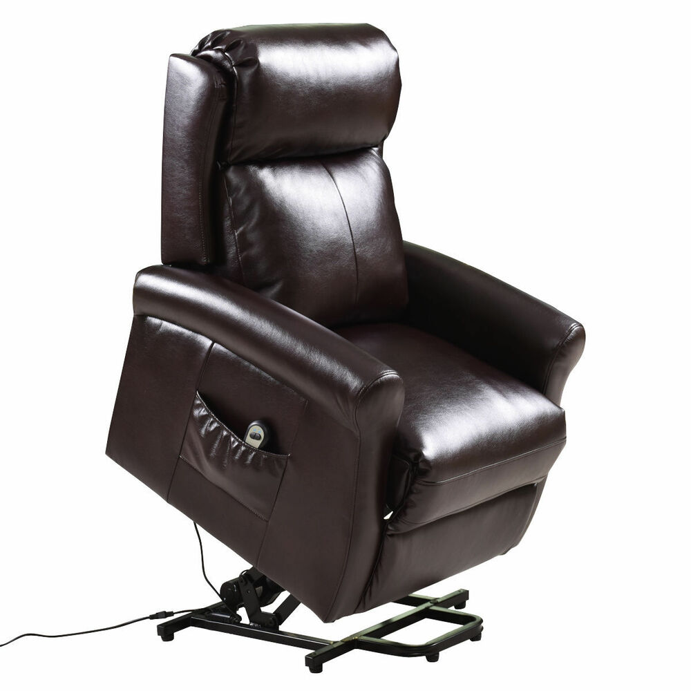 Electric Power Lift Chair Recliners Chair Remote Living Room Furniture Brown New Ebay