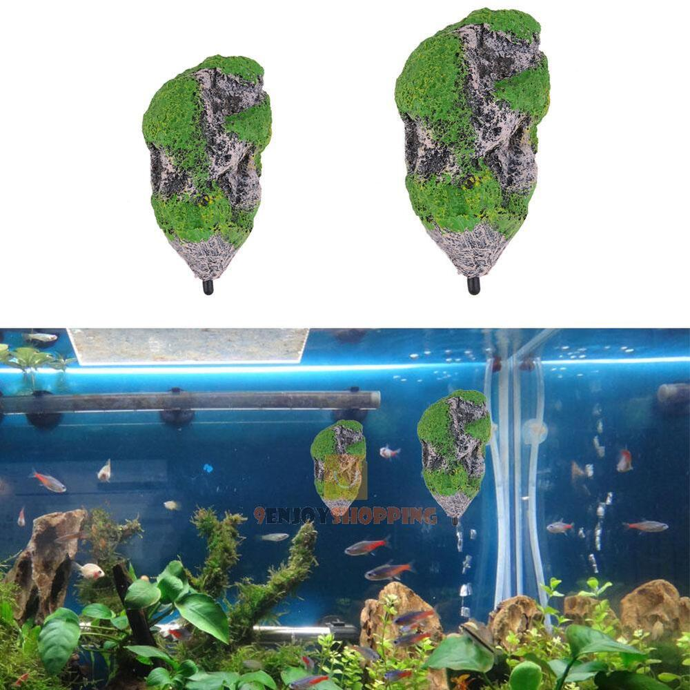Aquarium floating rocks suspended stones fish tank for Aquarium decoration