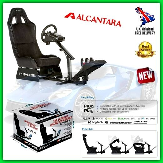 racing gaming driving seat foldable bucket car chair stand simulator cockpit ps4 679579000089 ebay. Black Bedroom Furniture Sets. Home Design Ideas
