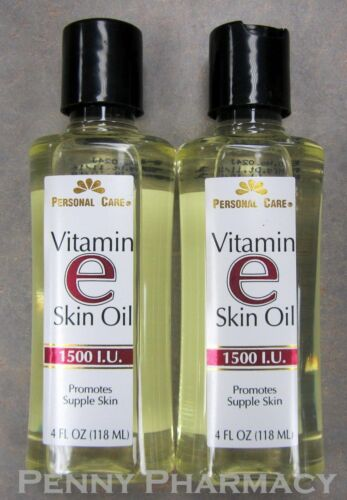 Vitamin E Skin Oil 1500 I.U. 4oz Personal Care ( 2 pack ) FRESH PHARMACY STOCK!