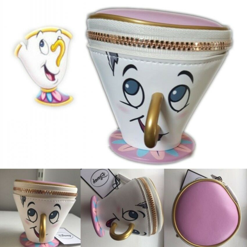 primark disney chip cup coin purse beauty and the beast ebay. Black Bedroom Furniture Sets. Home Design Ideas