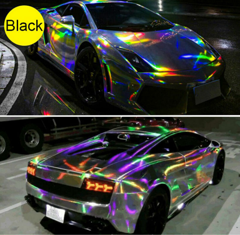 Holographic Laser Chrome Iridescent Vinyl Film Car Wrap