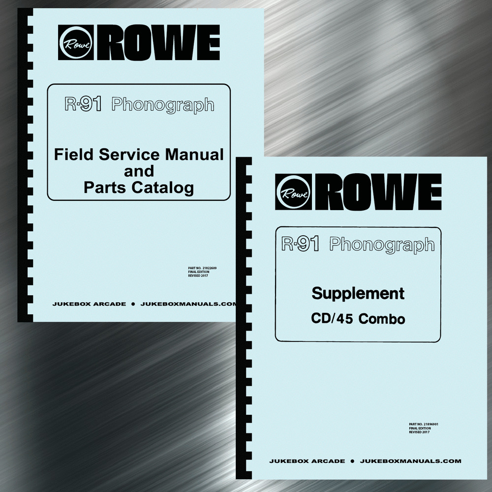 Rowe R-91 Phonograph Service & Parts Manual with Supplement &  Troubleshooting | eBay