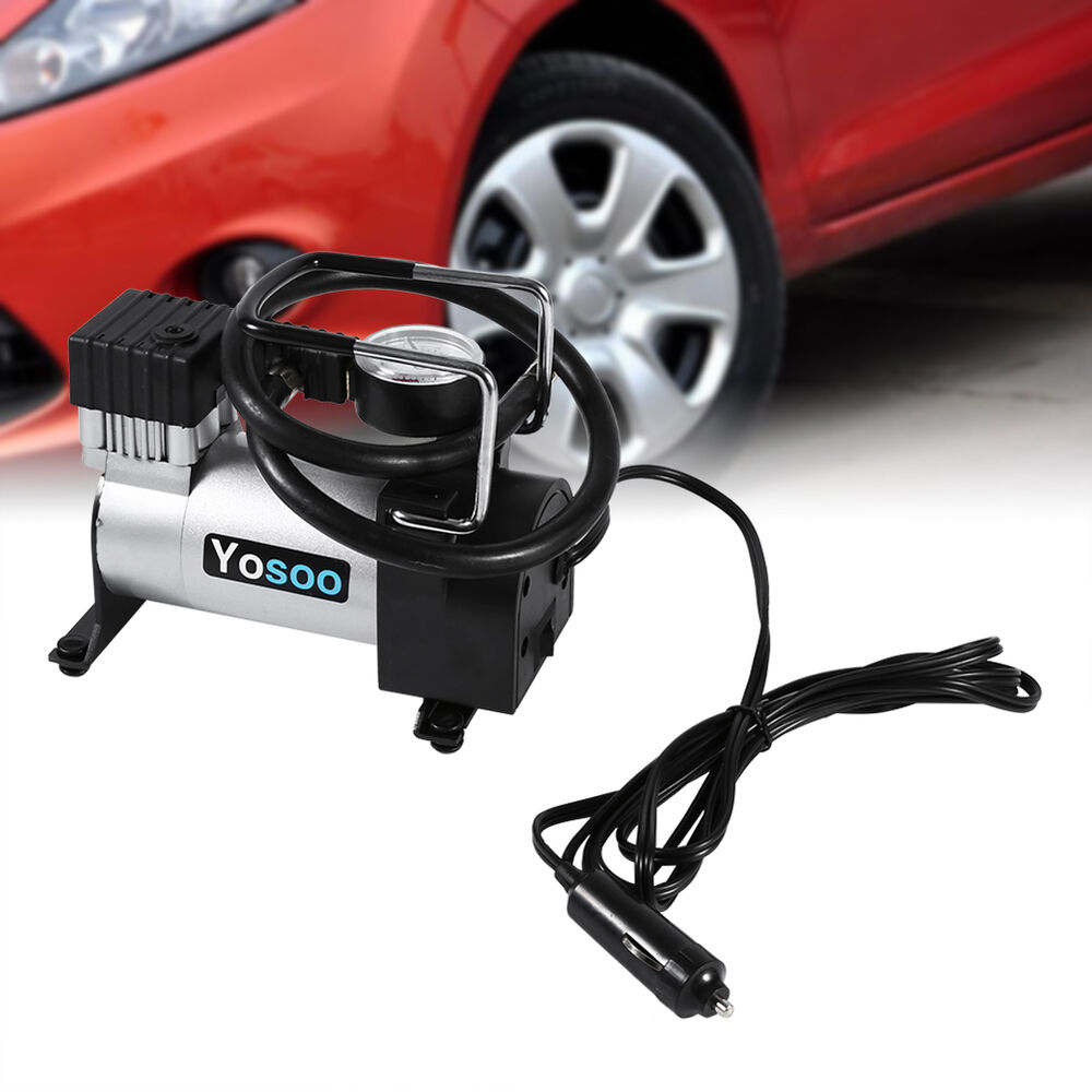 12v Portable Heavy Duty 150psi Car Tyre Auto Tire Inflator Pump Air Compressor A