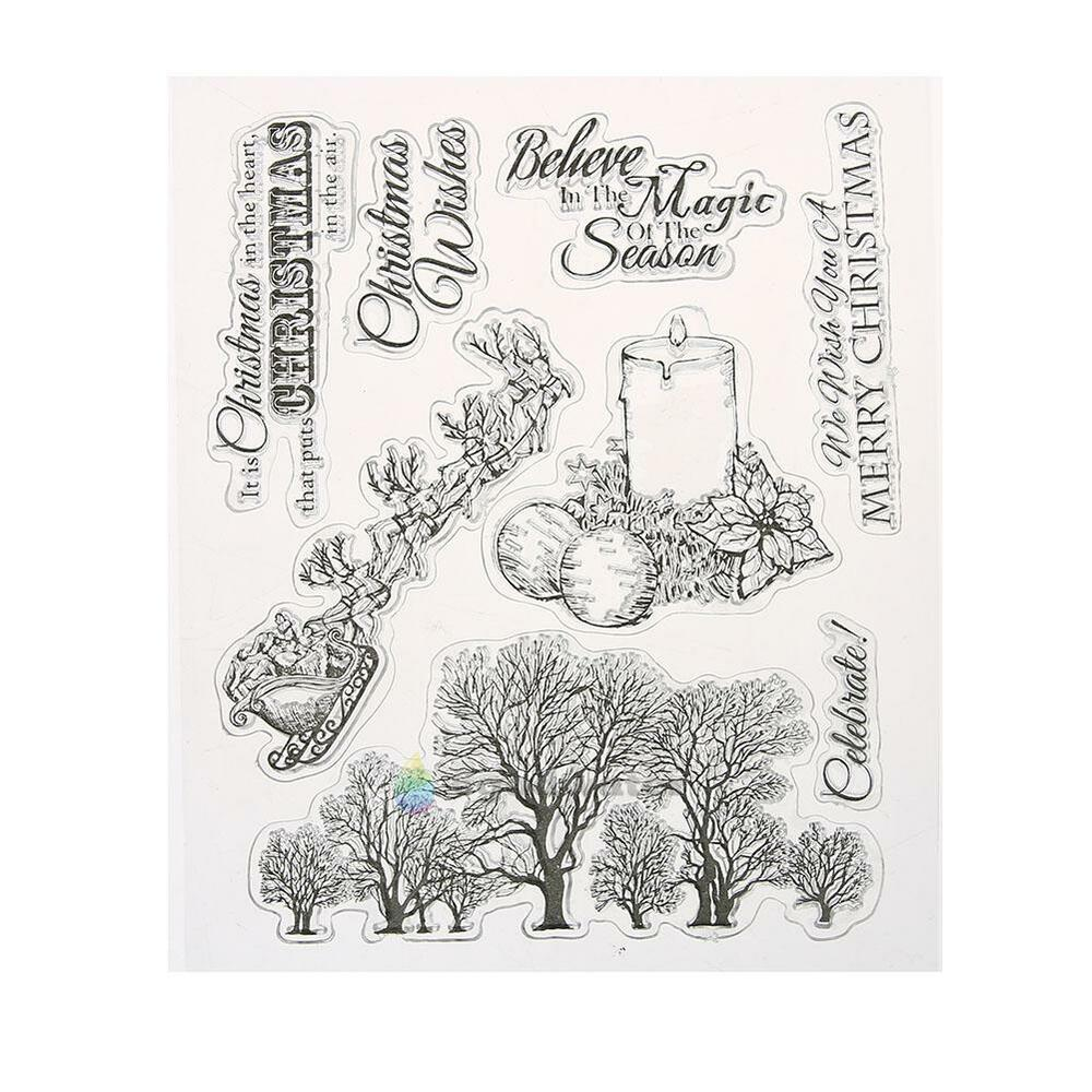 Silicone clear rubber stamps seal scrapbooking album card for Custom craft rubber stamps