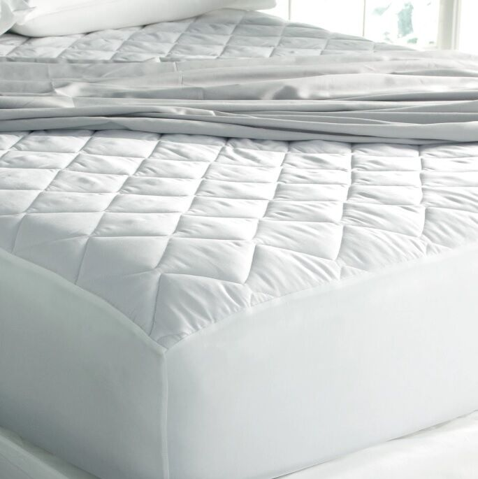 cooling mattress pad king size wicking hypoallergenic cover soft washable cotton ebay. Black Bedroom Furniture Sets. Home Design Ideas