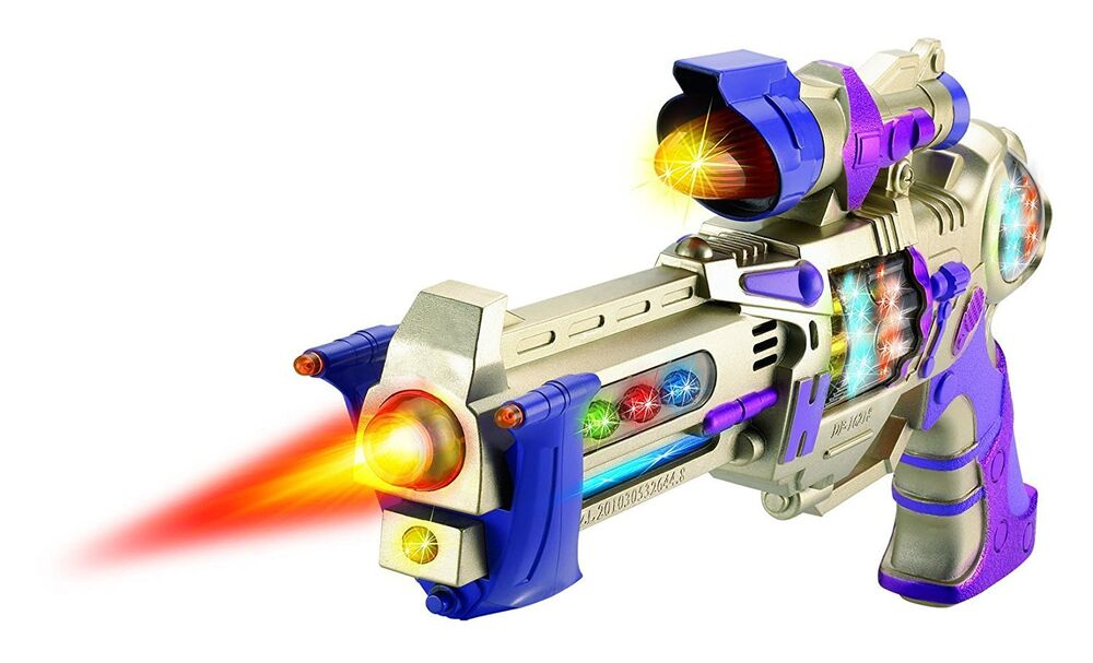 Galactic Space Police Gun Toy for Kids with Spinning ...