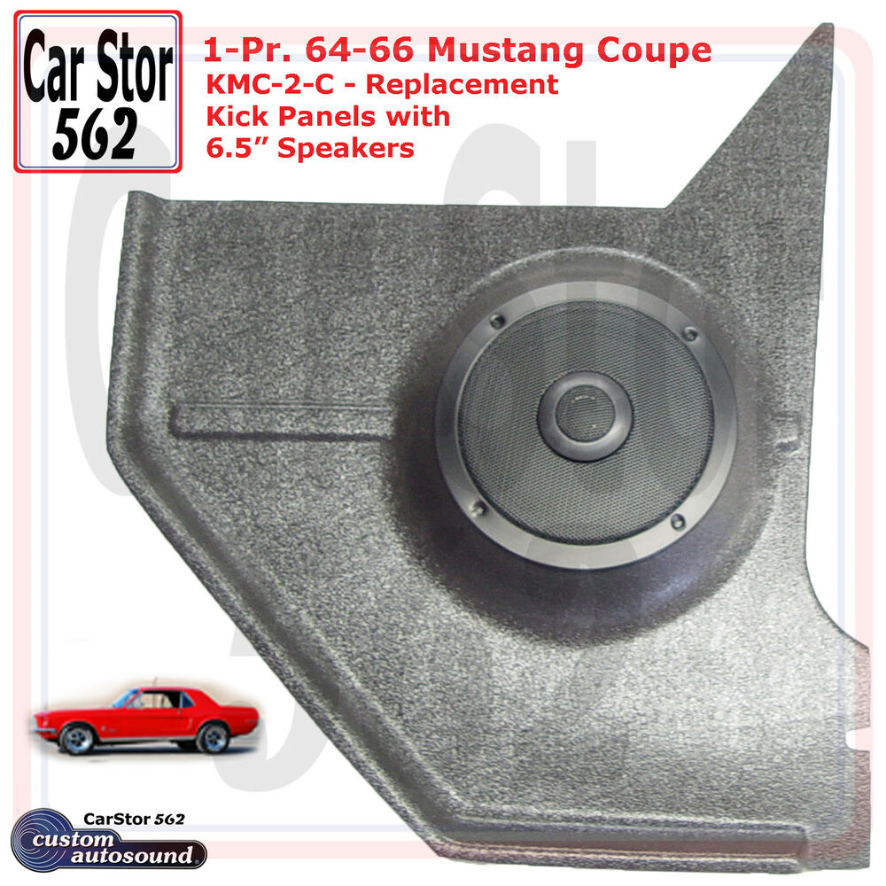 Custom Autosound Kmc 2 Com Kick Panels 65 Speakers 67 68 Ford The New Technology Of Auto Sound Systems Mustang Coupe Ebay