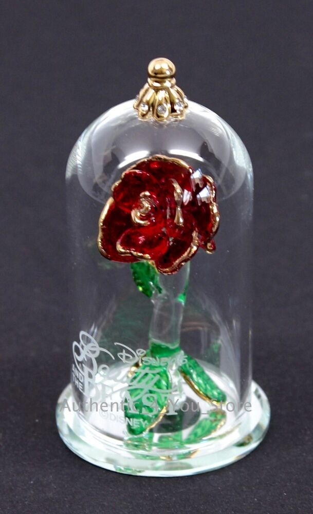 new disney arribas brothers beauty the beast enchanted rose 2 5 glass dome ebay. Black Bedroom Furniture Sets. Home Design Ideas