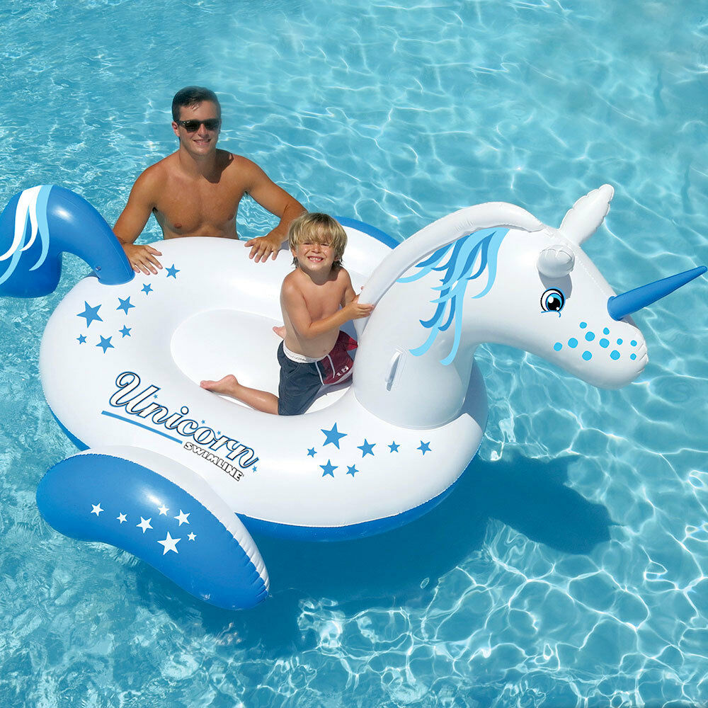 Swimline 104 giant unicorn swimming pool inflatable for Giant swimming pool