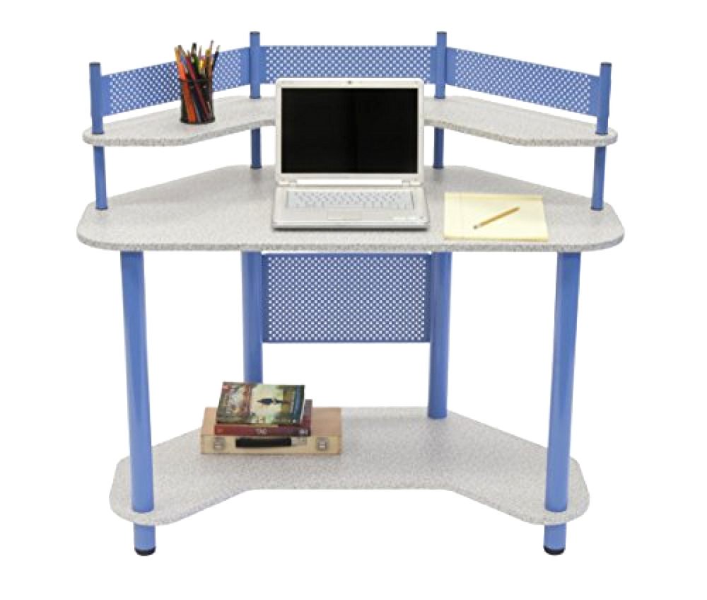 Details About Bedroom Teen Girl/Boy Computer Study Corner Multipurpose Desk  Furniture, Blue
