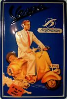 Vespa 1950 Man With Dog Blechschild Schild Blech Metall Tin Sign 20 x 30 cm