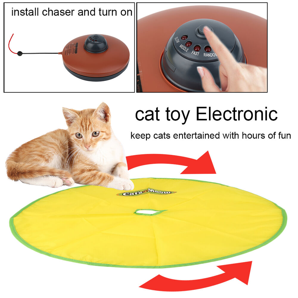 Like Toy Tv : Cats meow yellow undercover fabric moving mouse cat play
