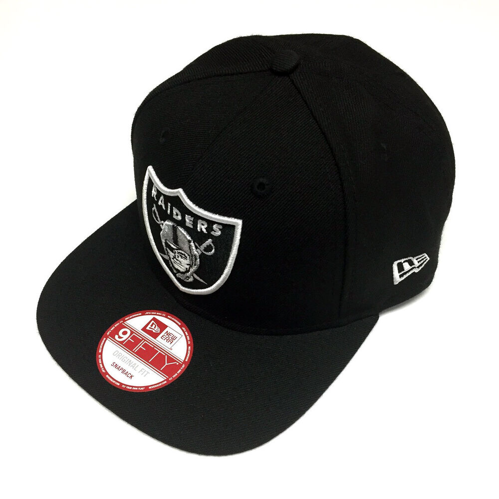 94f6ec72d5f Details about New Era NFL Oakland Raiders Shield Logo Black Snapback Cap  9fifty NewEra