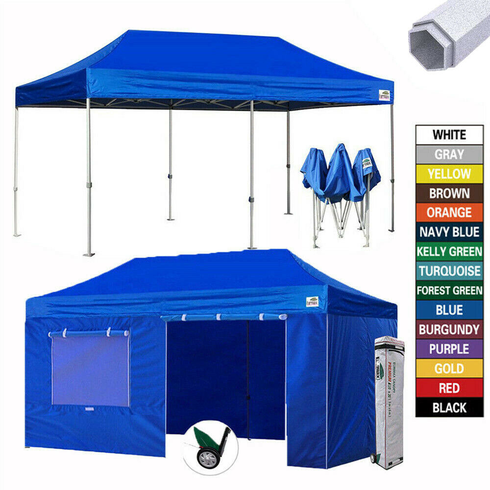 Heavy Duty 10x20 Ez Pop Up Canopy Commercial Outdoor Party