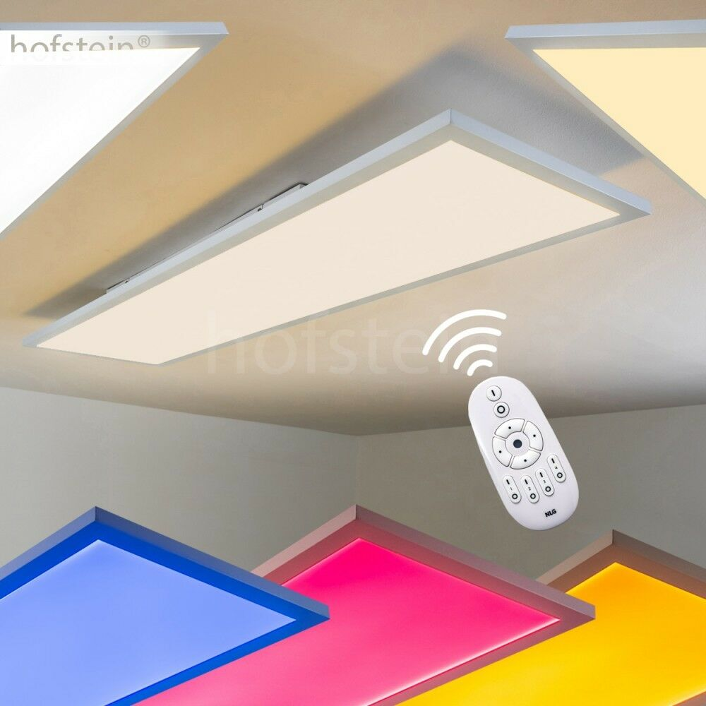 deckenleuchten led farbwechsler wohn zimmer b ro panel k chen lampen rgb dimmbar ebay. Black Bedroom Furniture Sets. Home Design Ideas