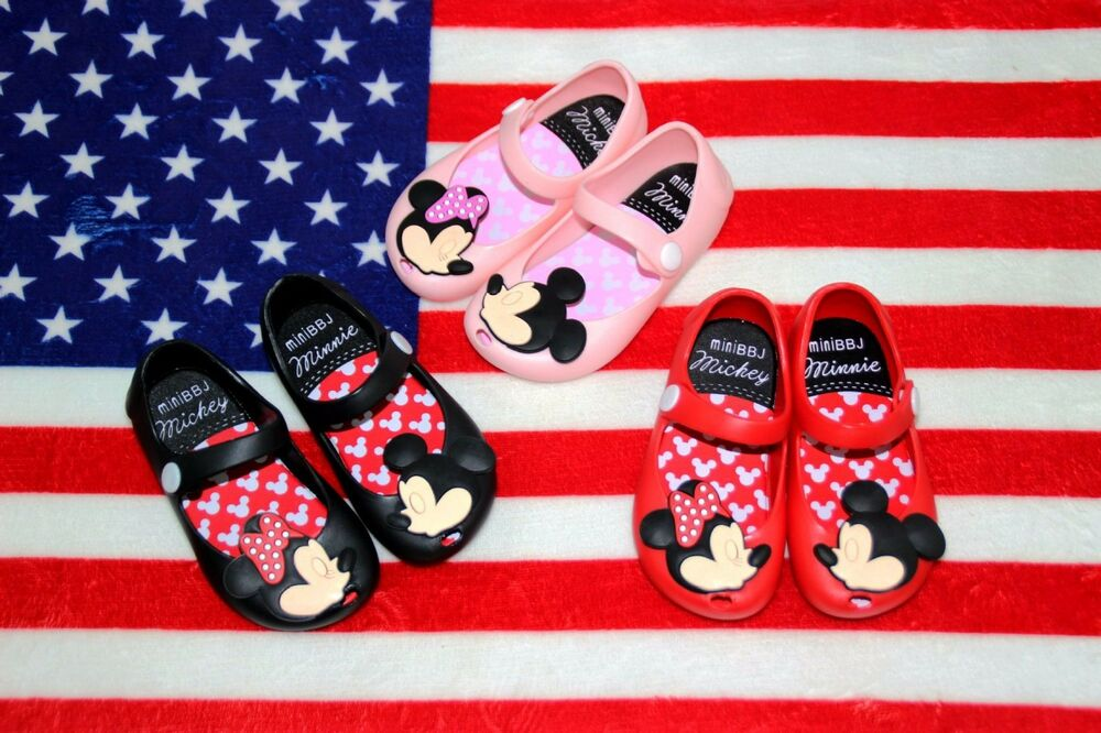 Melissa Cartoon Mickey Minnie Mouse Sandals Jelly Shoes