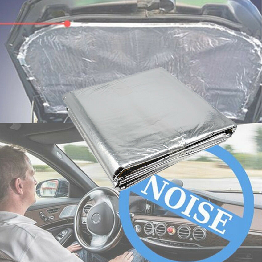 car heat shield mat turbo exhaust muffler insulation hood fiberglass cotton pad ebay. Black Bedroom Furniture Sets. Home Design Ideas