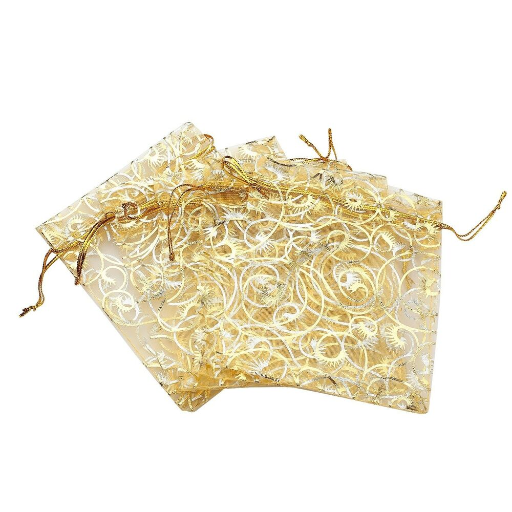 50 100pcs organza drawstring jewelry candy pouch wedding for Drawstring jewelry bag pattern