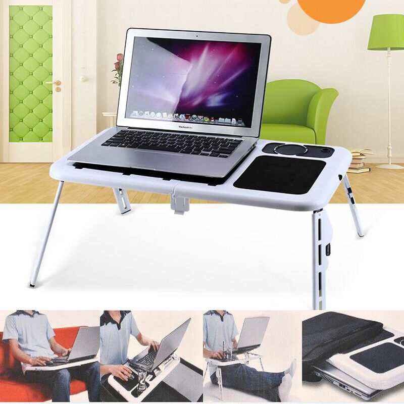 Heat Dissipation Portable Folding Laptop Desk Computer Table Stand Tray Bed  Sofa | EBay