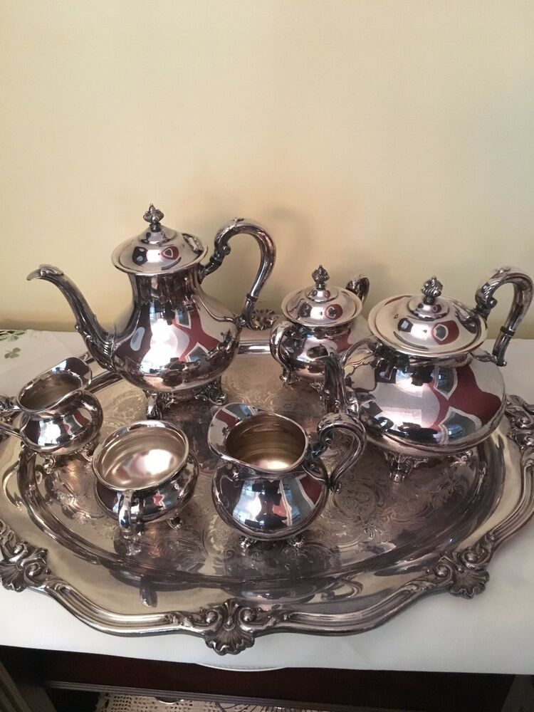 Silver Tray Coffee Table Decorating Ideas: REED & BARTON 5600 REGENT 6 PIECE SILVER PLATE TEA SET