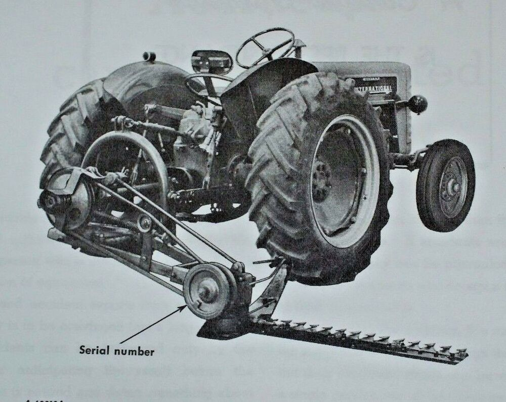 IH International Farmall McCormick 100 2pt 3pt Balanced Head Sickle Mower  Manual | eBay