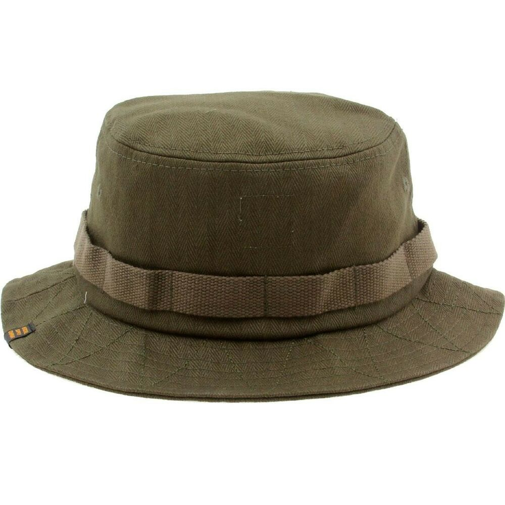 Details about Herschel Supply Co Lake Bucket Hat green army twill eccc5e4355cc