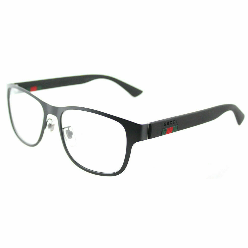 881a8d393e Gucci GG0013O 001 Black Metal Square Eyeglasses 55mm 889652047737