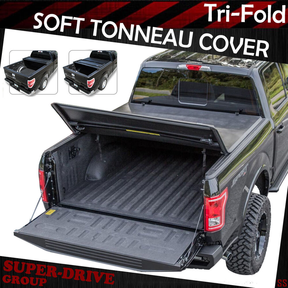 Premium Tri Fold Tonneau Cover For 2015 2016 Ford F 150 8