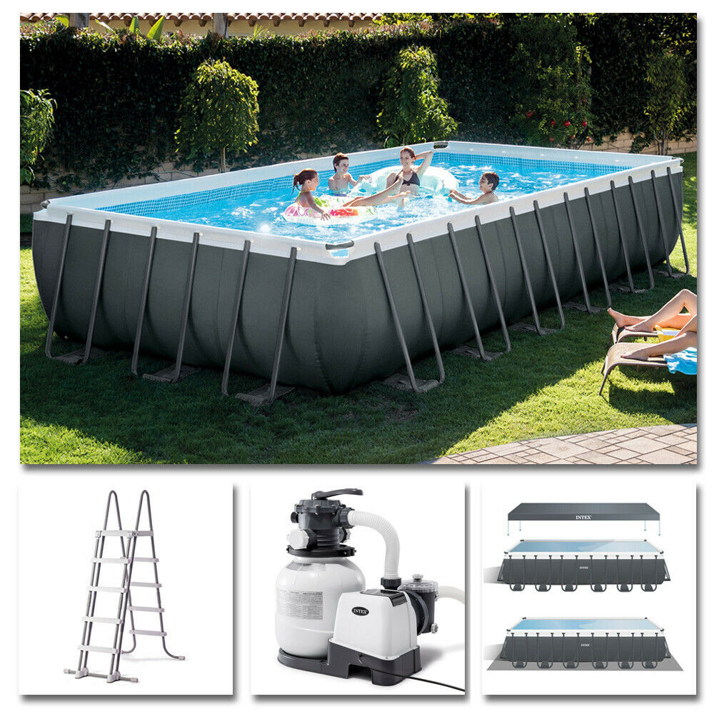 intex komplettset frame pool 732x366x132cm sandfilteranlage swimmingpool ebay. Black Bedroom Furniture Sets. Home Design Ideas
