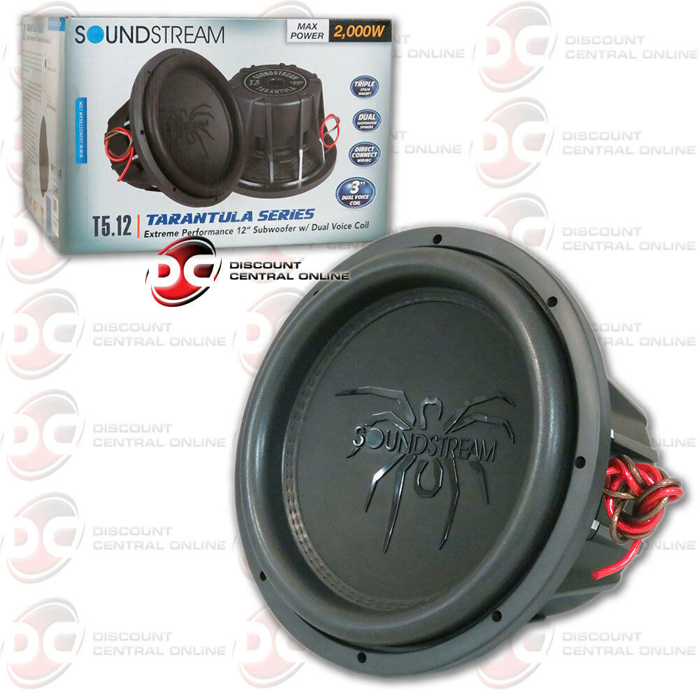 Soundstream T5124 12 Tarantula Series Car Audio Dual 4 Ohm How To Wire Voice Coil Sub Subwoofer 1000w Rms 709483055681 Ebay