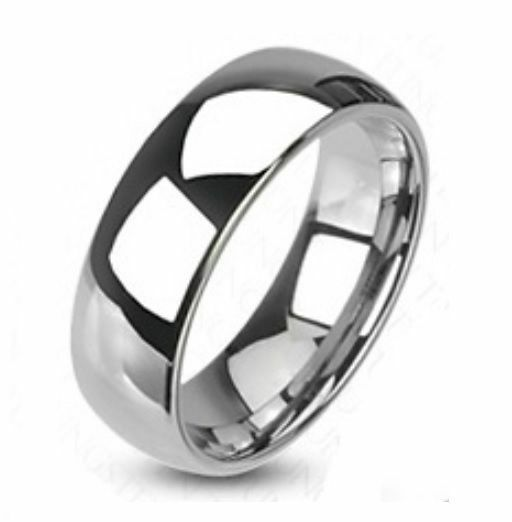 Stainless Steel Mens Wedding Band Ring 8mm: Mens Traditional Wedding Band Ring Stainless Steel 8mm