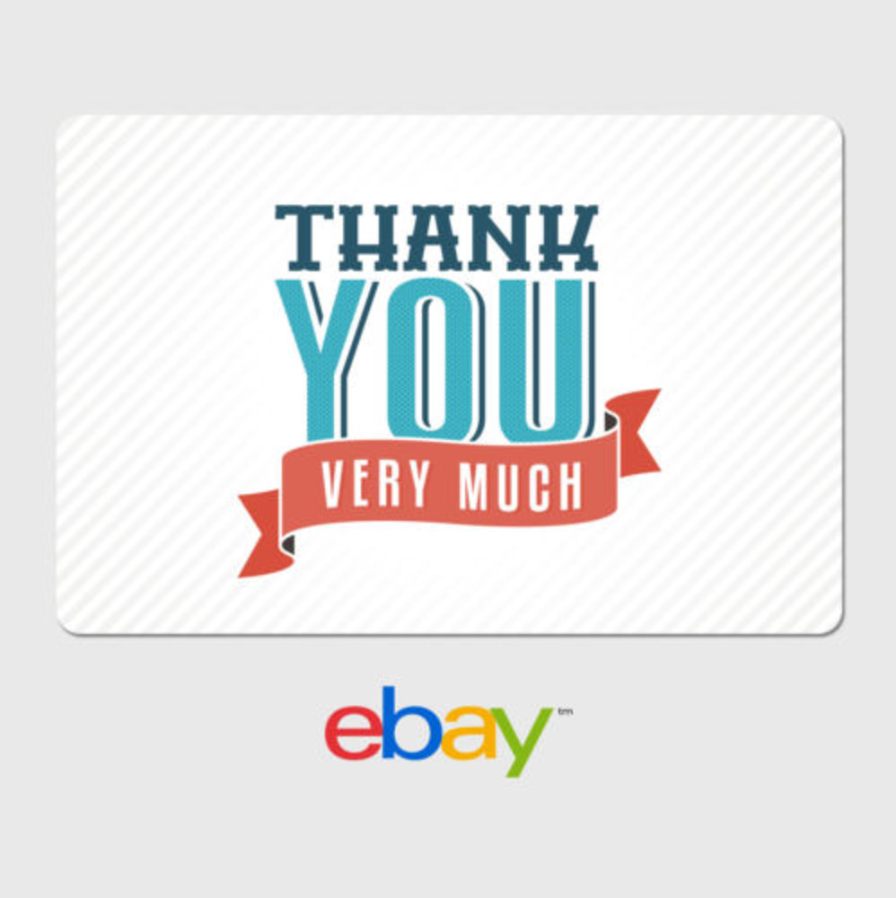 ebay digital gift card thank you very much fast email delivery ebay. Black Bedroom Furniture Sets. Home Design Ideas