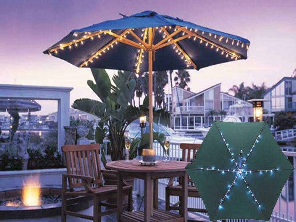 72 Led Battery Operated Garden Parasol Umbrella Chain