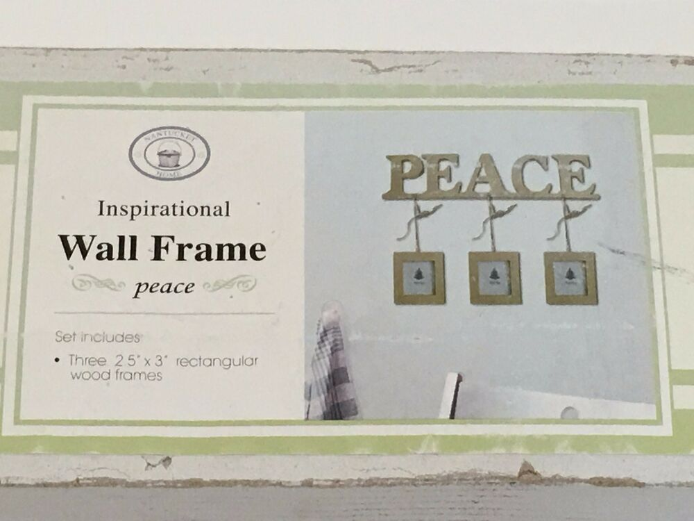 Nantucket Home Inspirational Wall Frame with three 2.5\