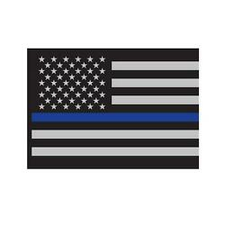 Rothco Thin Blue Line Flag Decal, Police, Law Enforcement Support, 3'' x 4.25''