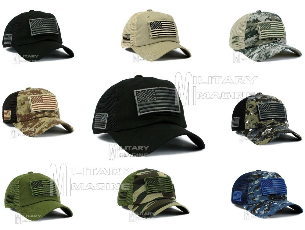 50b4df23 Details about Tactical Operator With USA Flag Patch Micro Profile Mesh  Military Cap Hat