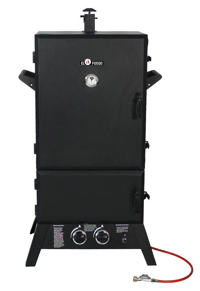 gasgrill portland xxl von el fuego r uchergrill smoker grill bbq barbecue ebay. Black Bedroom Furniture Sets. Home Design Ideas