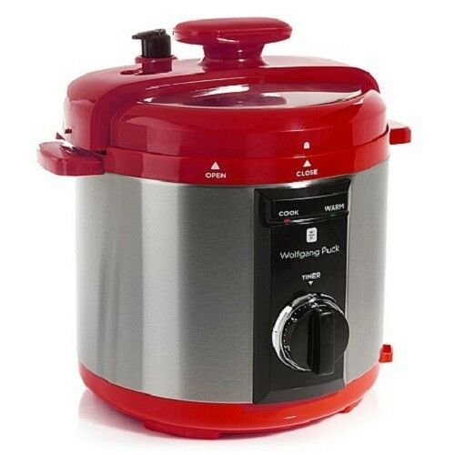 Wolfgang Puck Automatic 8 Quart Rapid Pressure Cooker with Steaming Rack